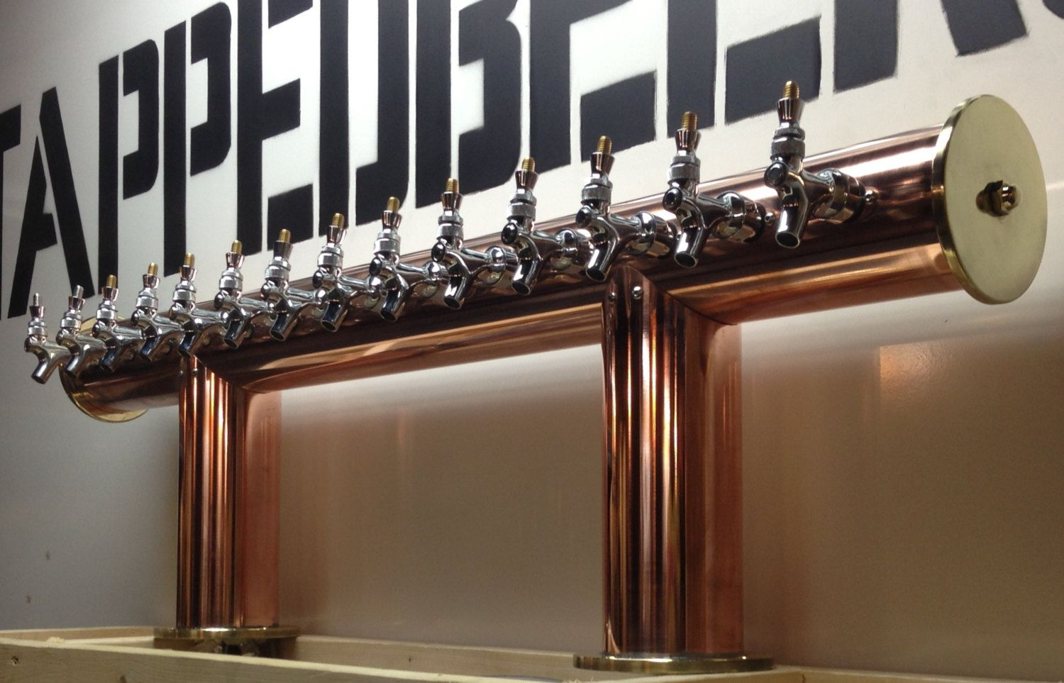 Gorgeous Copper Custom 14 Tap Draft Beer Tower Glycol Cooled