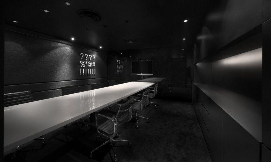 office black. Modern Office Interior Design \u2013 Leo Burnett\u0027s Black S