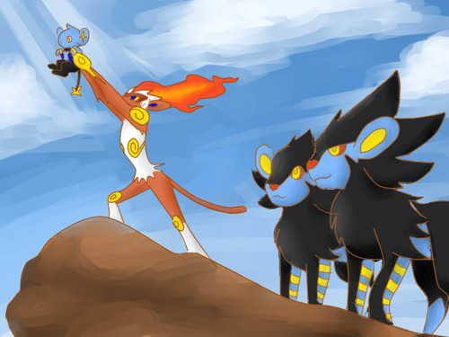 Luxray And Pyroar