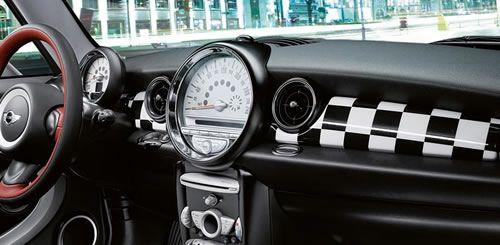 Mini Cooper Checkered Dash