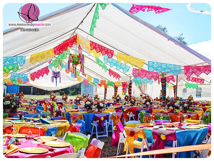 Bianca Mexican Theme Quinceanera Mexico Fiesta Decoracion