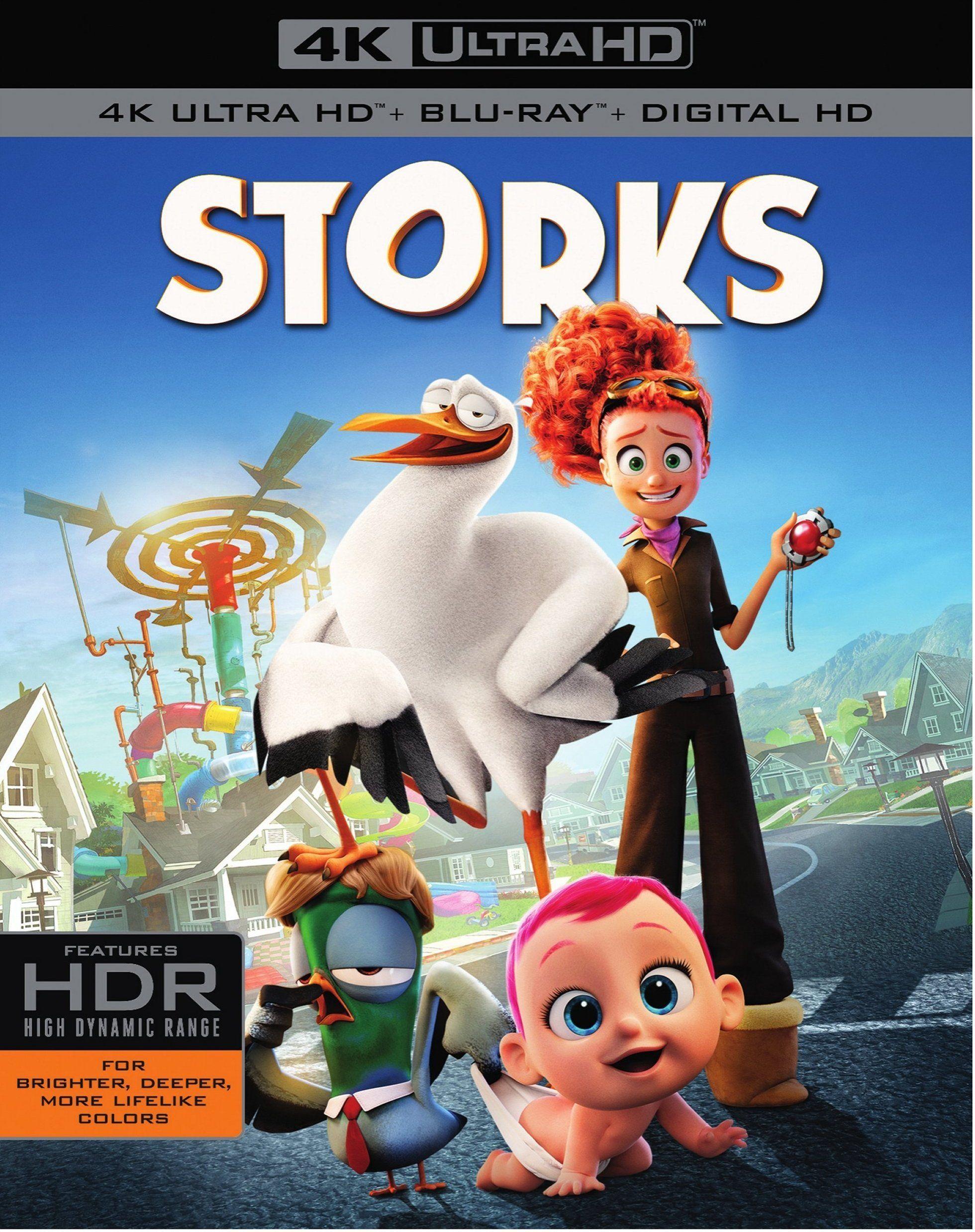 Storks 4k 2016 Ultra Hd Blu Ray Cigüeñas Pelicula Peliculas Peliculas De Disney