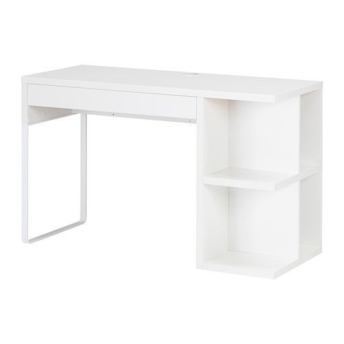 Micke Desk With Integrated Storage White Ikea For Vanity