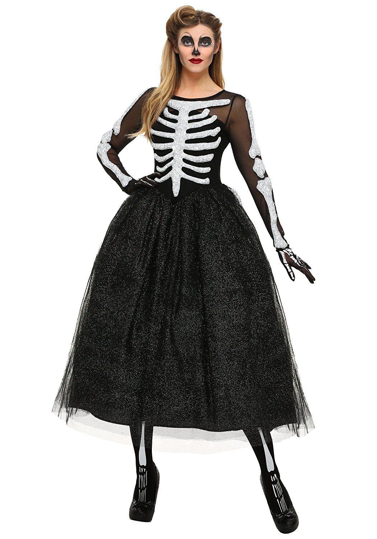 Women's Skeleton Beauty Fancy dress costume Medium Amazon