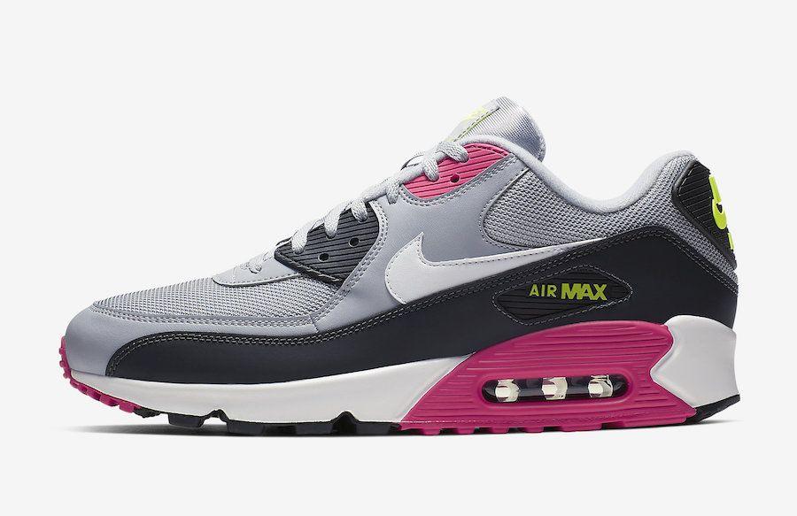 abb6b9899d2 Nike Air Max 90 Grey Pink Volt AJ1285-020 Release Date