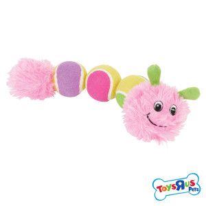 Toys R Us Pets Tri Tennis Ball Caterpillar Petsmart Toy