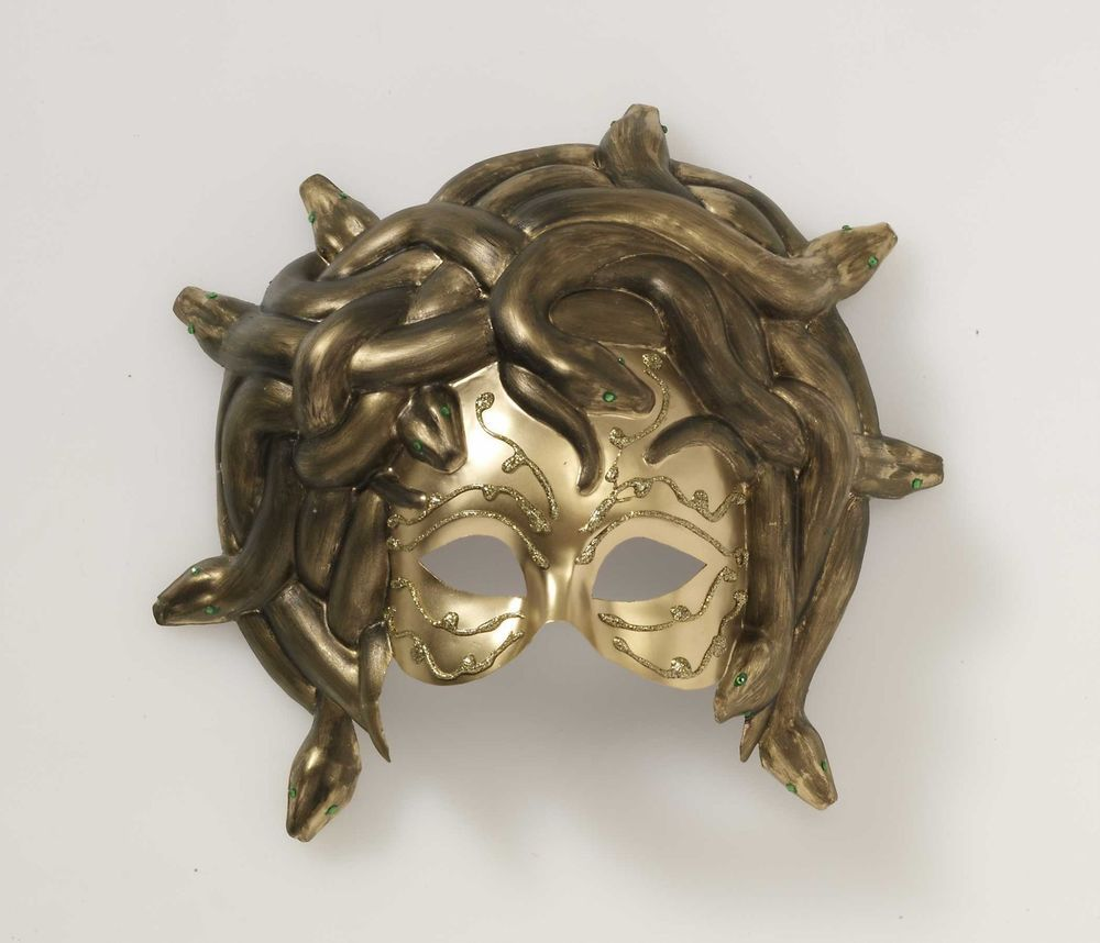 Medusa Greek Snake Venetian Mardi Gras Gold Mask Masquerade ...