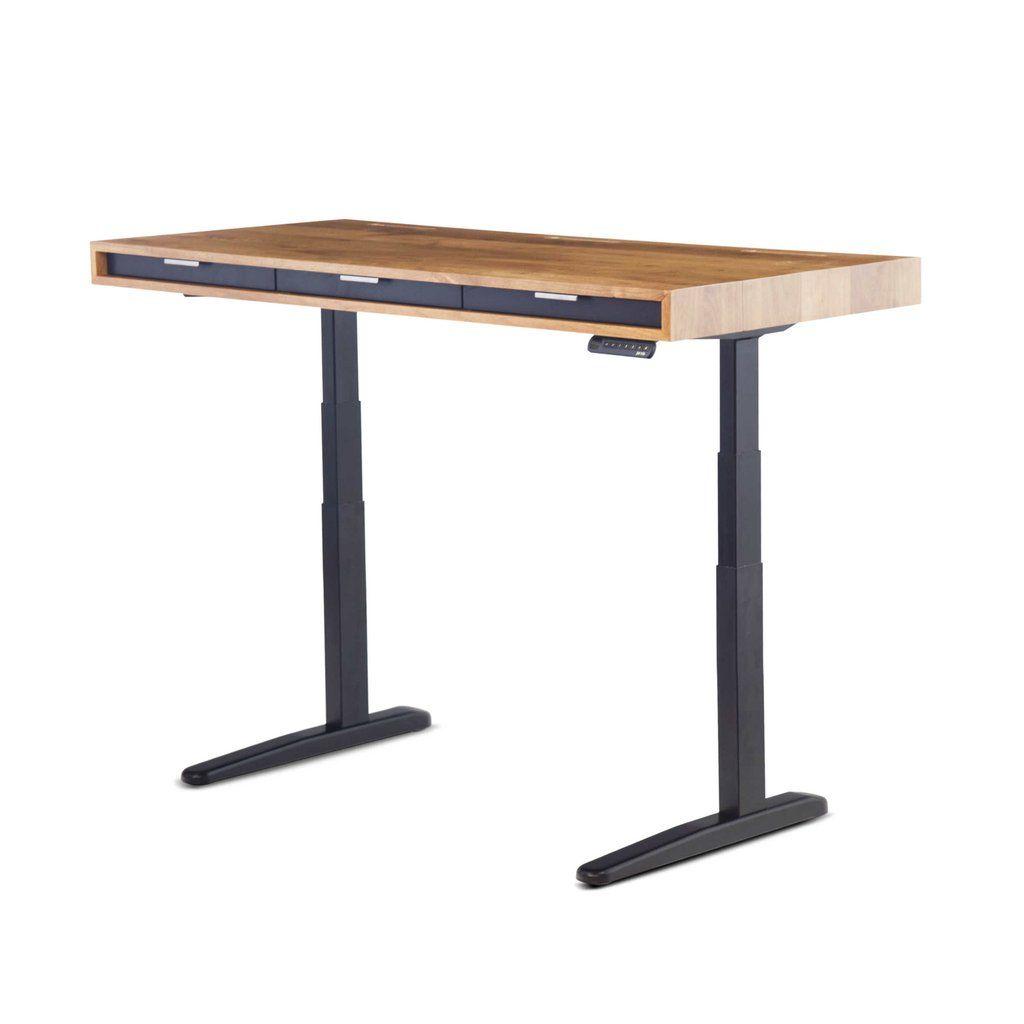 The Slim Classic Modern Office Desk Wooden Standing Desk Adjustable Standing Desk Sit Stand Desk