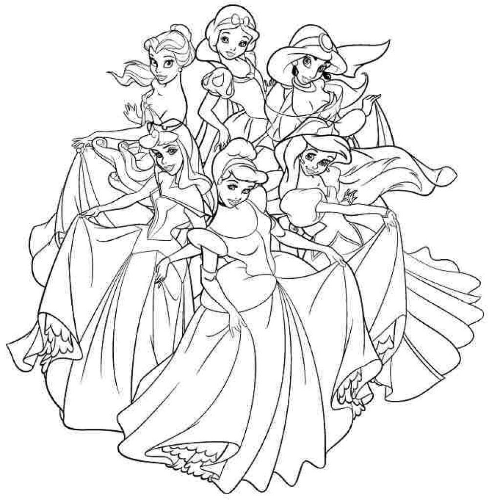 Princesses Coloring Pages Disney Princesses Coloring Page