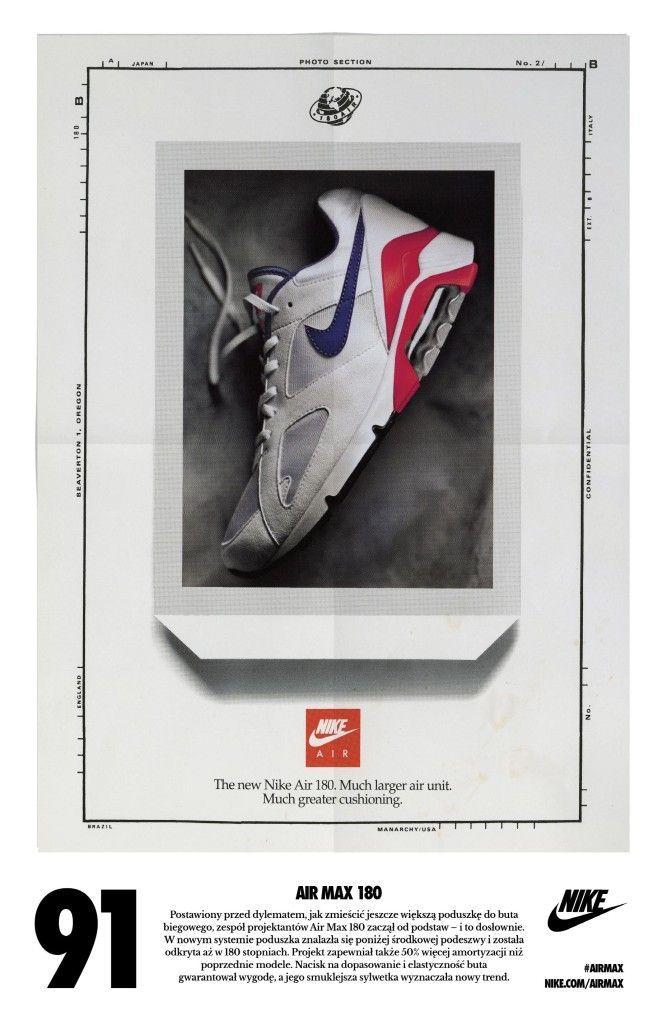 Nike Air Max 180 | Sneakers | Nike ad, Vintage nike, Nike