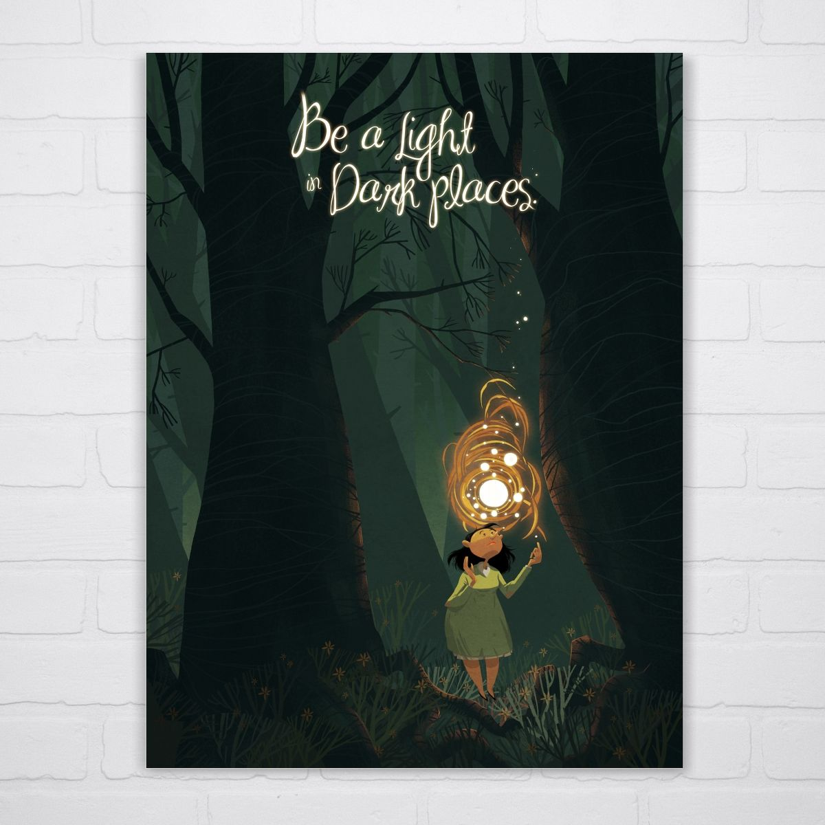 Be a Light Art Print on sneakpeeq