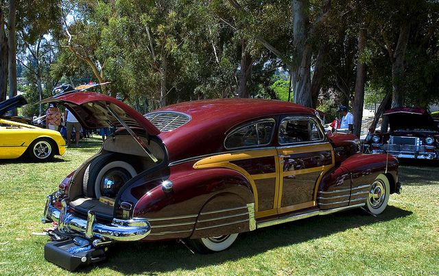 1948 Chevrolet Fleetline Woodie Maroon Metallic Rvr With