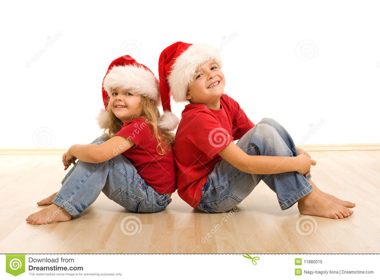 Happy Christmas Kids Sitting On The Floor - Download From Over 38 ...