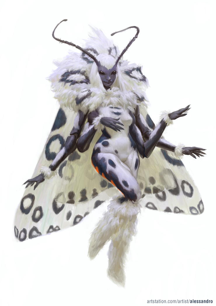 Leanan Sidhe These Moth Like Fairies Offer Inspiration To Artists