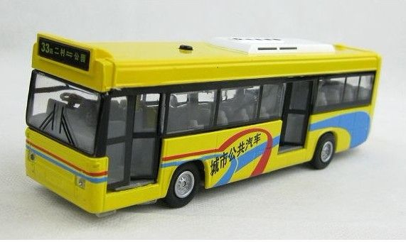 Kids Pull Back Function Yellow Green City Bus Toy Green City Legos Bus