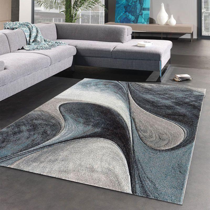 A Love Of Tapete Madila 40x60 Cm Carpete Macio E Macio Azul Cinza Preto Tapete Moderno De Carpete Da Sala In 2020 Modern Rugs Living Room Design Modern Room Rugs