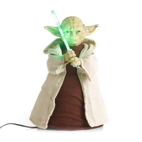 new 12 star wars yoda with led light saber christmas tree topper sw9902