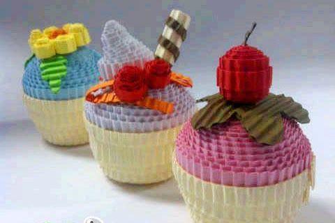 Cupcakes Kokoruuu Kreatif Kerajinan Kertas Makanan