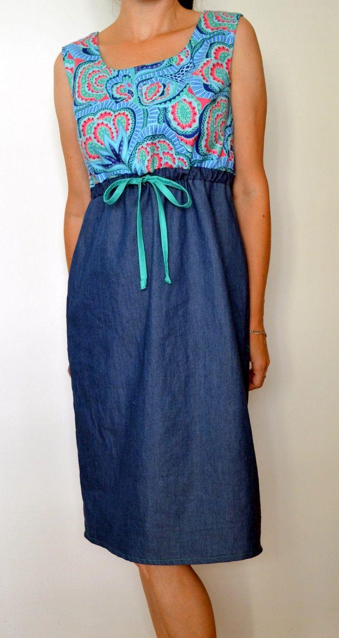 Šaty+Hapi+Azure+Kate+I.+Šaty+s+designového+bavlněného+plátna+Amy+ ...