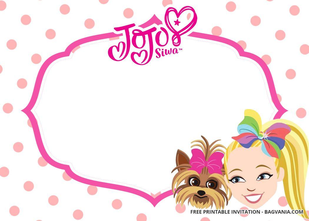 Free Jojo Siwa Birthday Invitation Templates Jojo Siwa Birthday Birthday Invitation Templates Printable Birthday Invitations