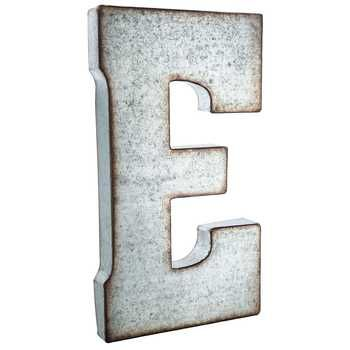 Galvanized Monogram Letters E Large Galvanized Metal Letter #petitpehrdreamnursery