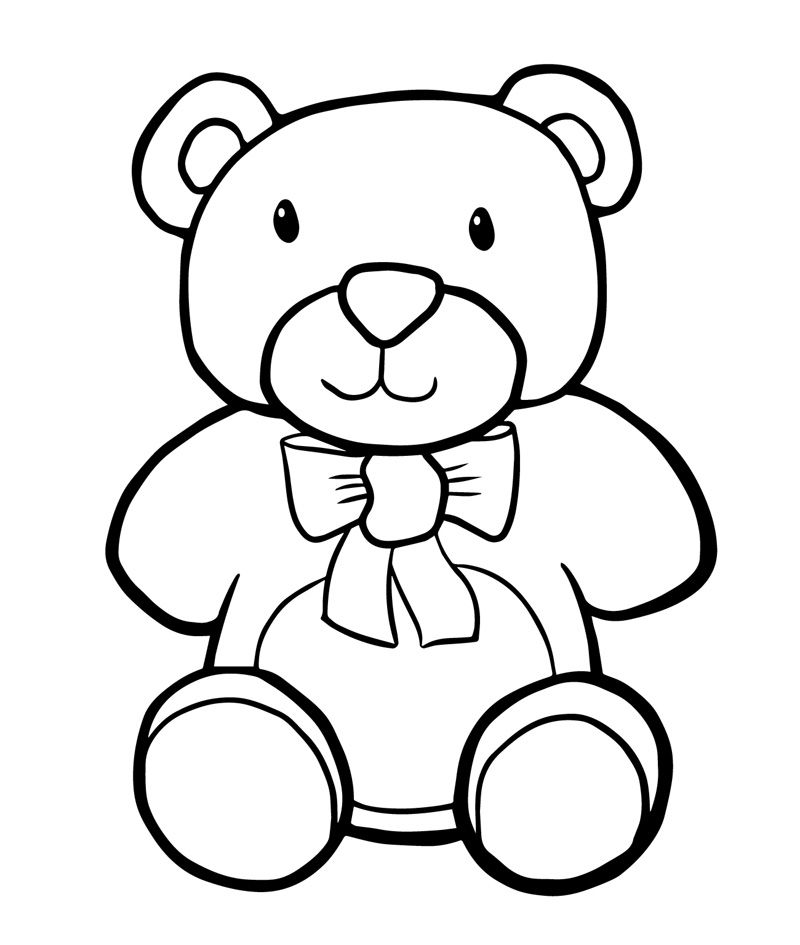 Pin by Shreya Thakur on Free Coloring Pages | Pinterest | Teddy bear ...