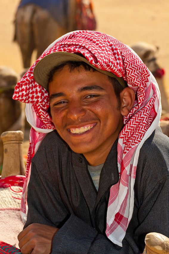 Camel driver, The Great Pyramids of Giza, outside Cairo, Egypt