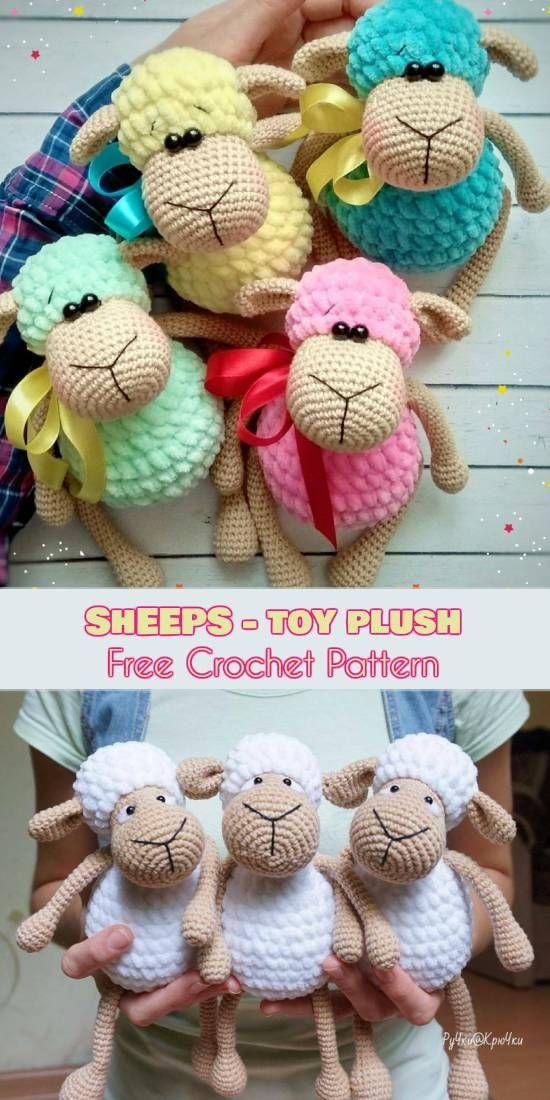Sheep - Toys Plush - Amigurumi [Free Crochet Pattern] | Pinterest ...