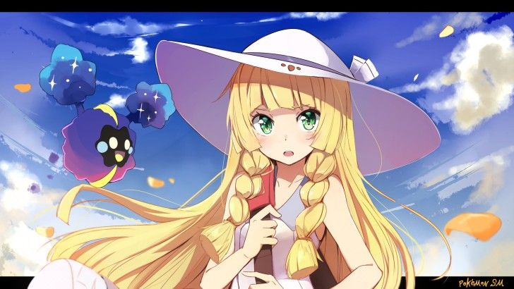 Lillie With Cosmog Pokemon Sun And Moon Wallpaper Pokemon Sun Cartoon Wallpaper Hd Pokemon