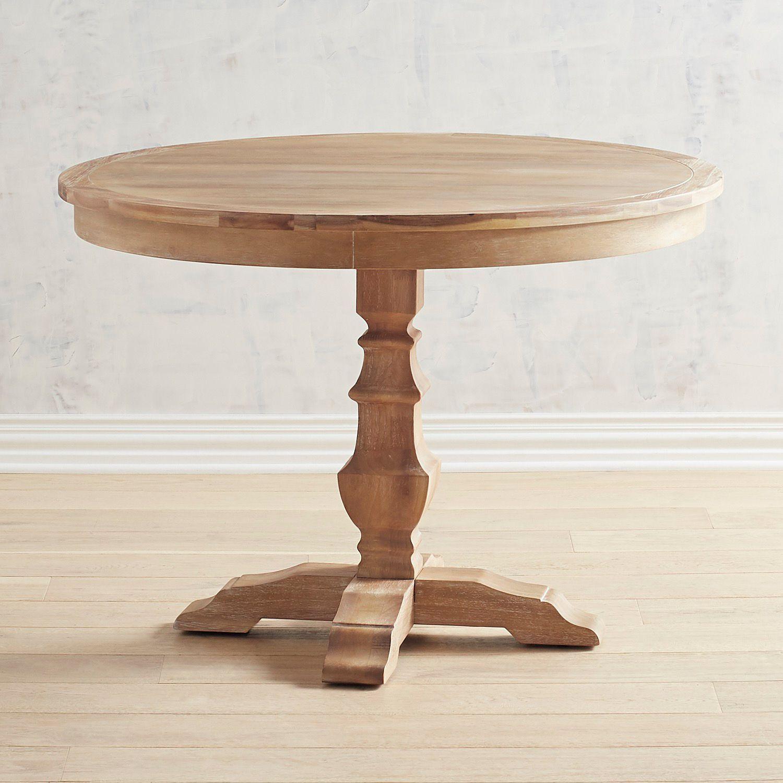 Bradding 42 Natural Stonewash Round Dining Table Pier 1 Imports Round Dining Round Dining Table Dining Table