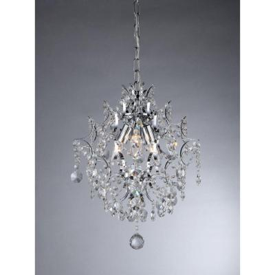 Warehouse of tiffany ellaisse 3 light chrome crystal chandelier warehouse of tiffany ellaisse 3 light chrome crystal chandelier rl9688 the home depot aloadofball Images