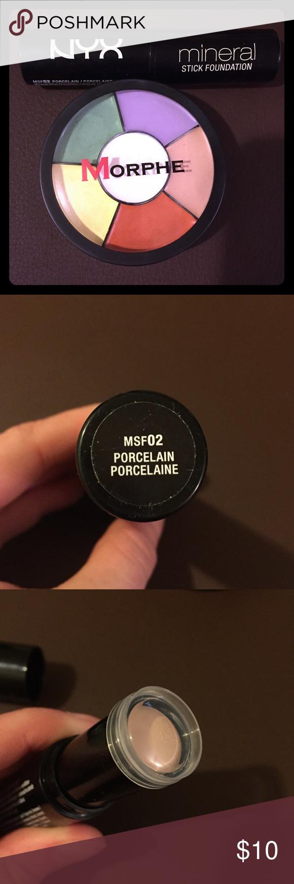 Mineral Foundation Stick + Color Corrector Wheel Color