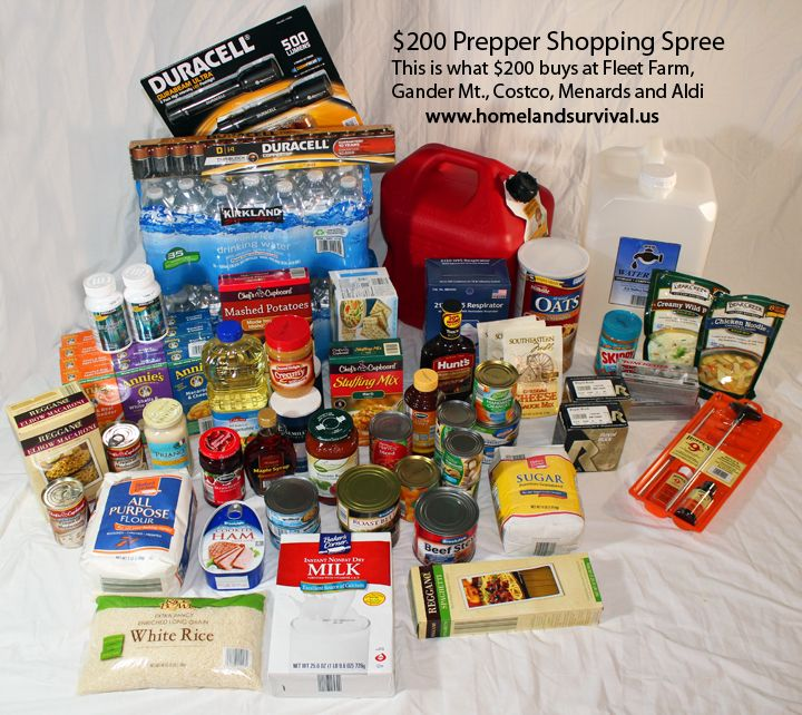 My 200 Prepper Shopping Spree This Is What 200 Will Buy You At