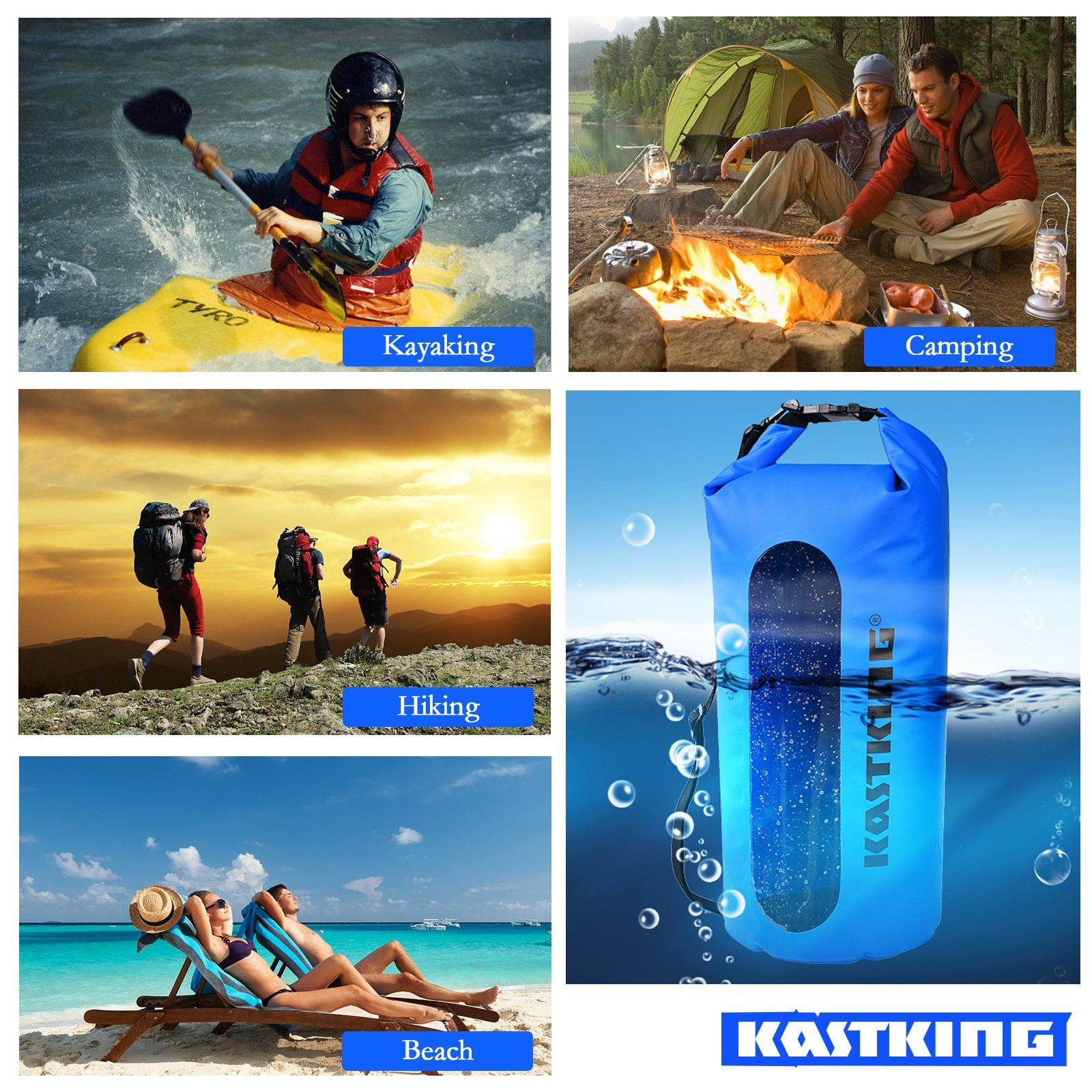8L Canoe Kayaking Fishing Camping Waterproof Dry Bags Swimming Hiking Sack Bags