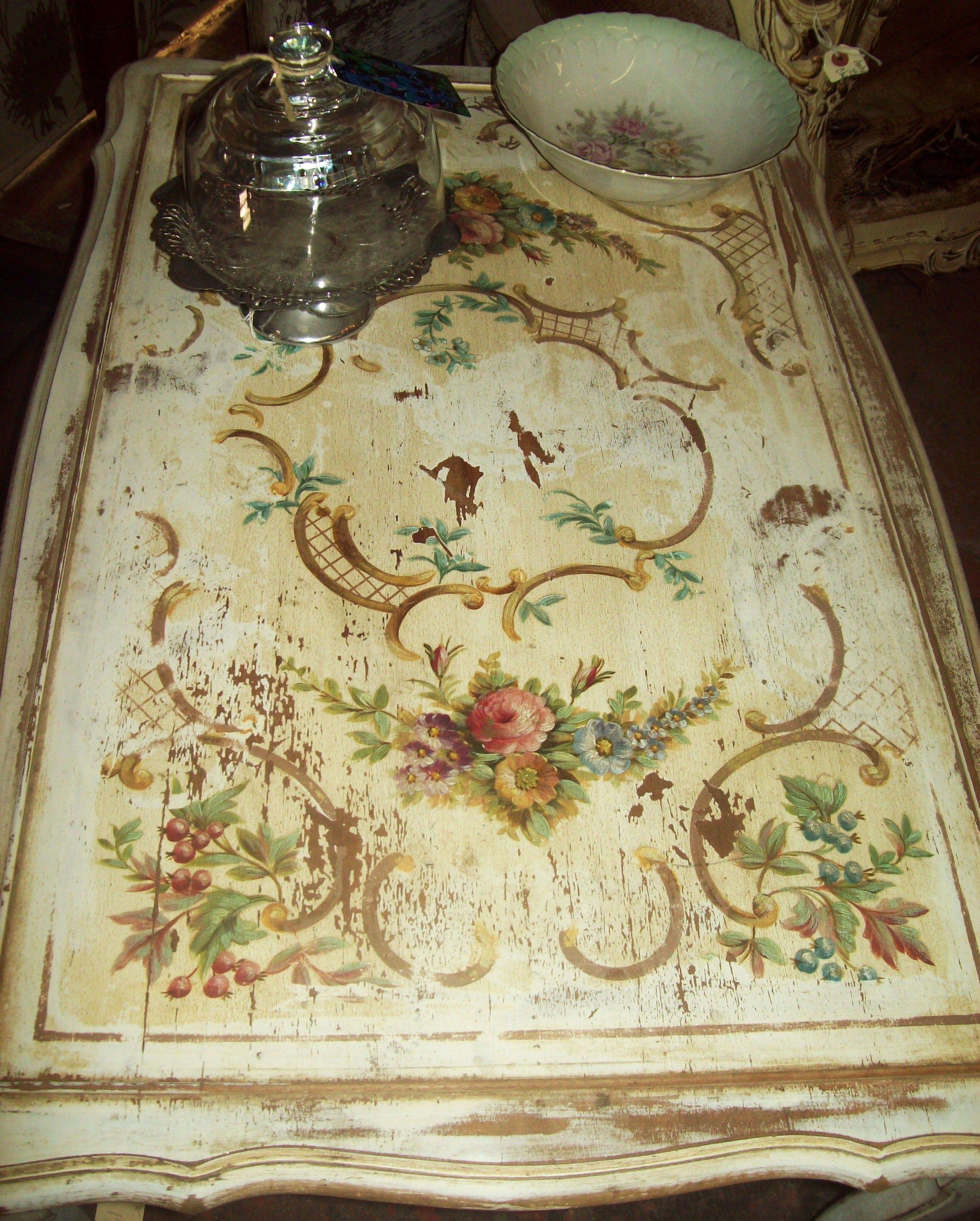 Swoon Worthy Painted Table Topshand