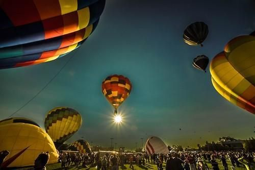 Colorado Balloon Classic Morning Launch by Michael Holstine #Amazing
