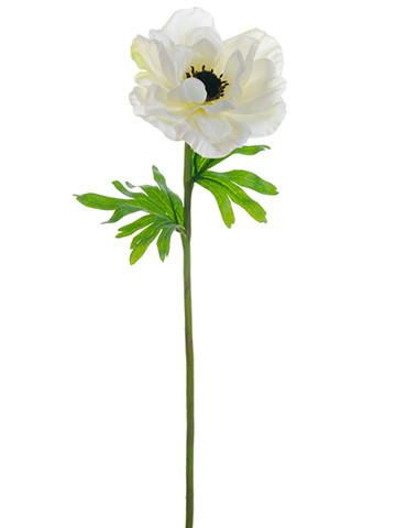 Silk anemone flower in white with black center 21 in 2018 silk white silk anemone silk flowers afloral mightylinksfo