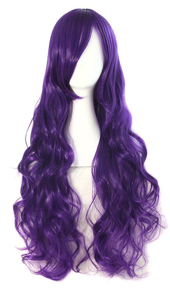 Photo of Cosplay Wig Costume Hair Anime Full Wavy Party Wig Log Hair 80 cm – Dark Purple