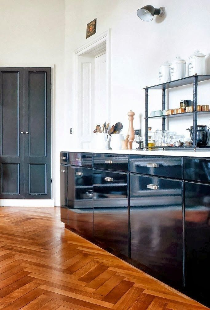 AVOID this color hardwood stain | Black kitchen cabinets ...