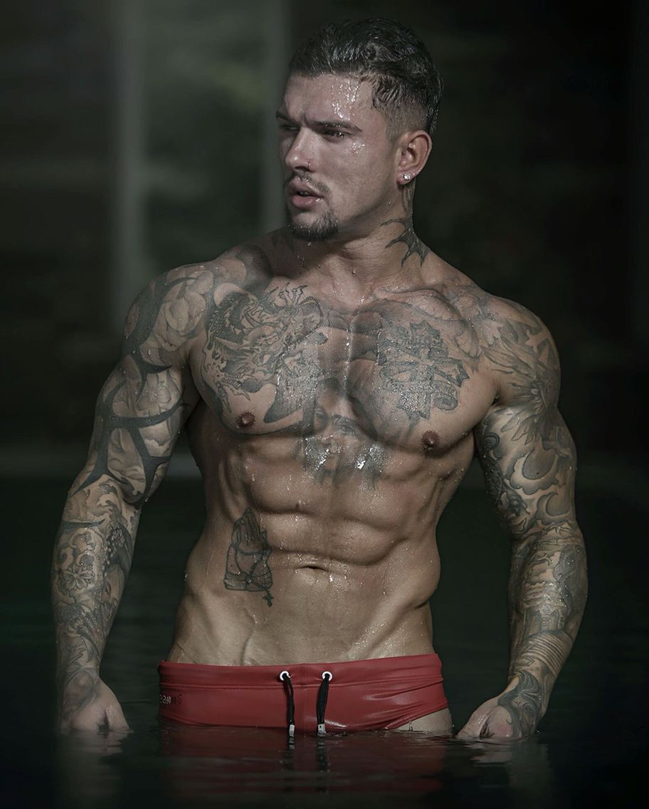 17+ Stunning Male fitness models with tattoos image HD