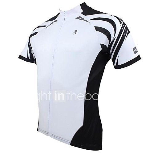 ILPALADINO Men s Short Sleeve Cycling Jersey - White Stripe Bike ... b77ef5528