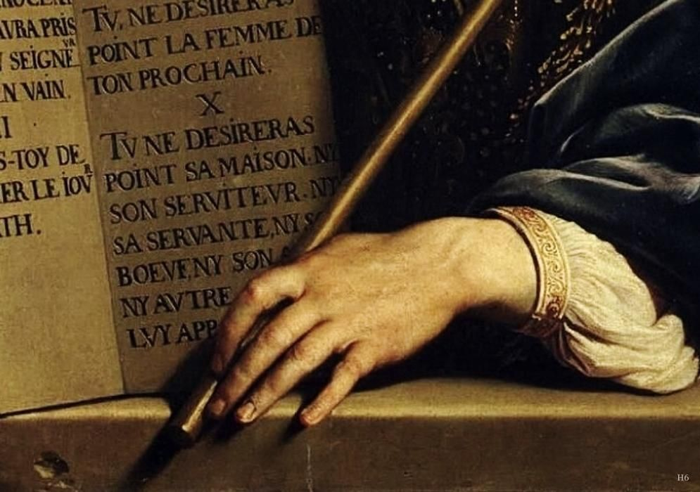Detail  Moses With The Ten Commandments Philippe De