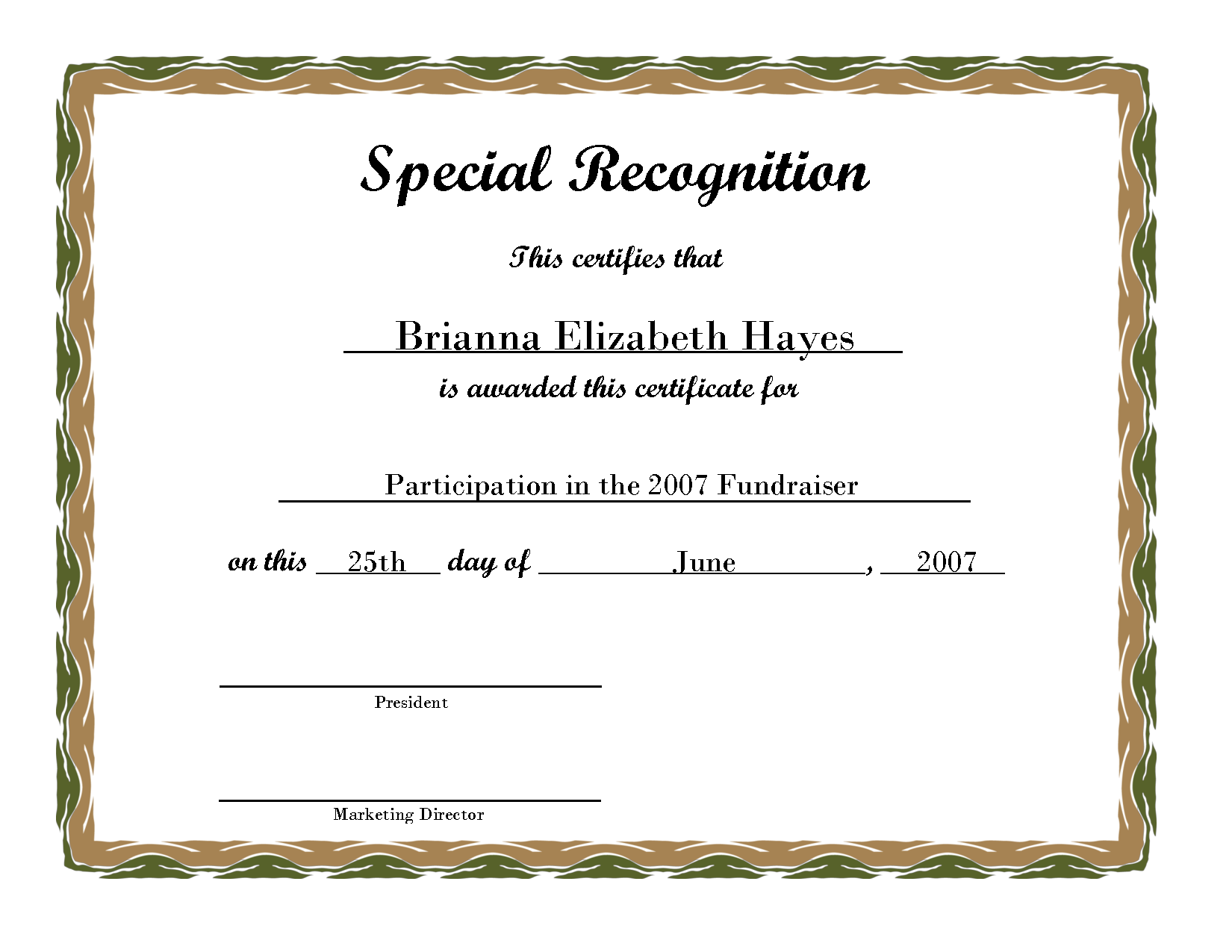 Free Printable Award Certificate Borders  Free Printable