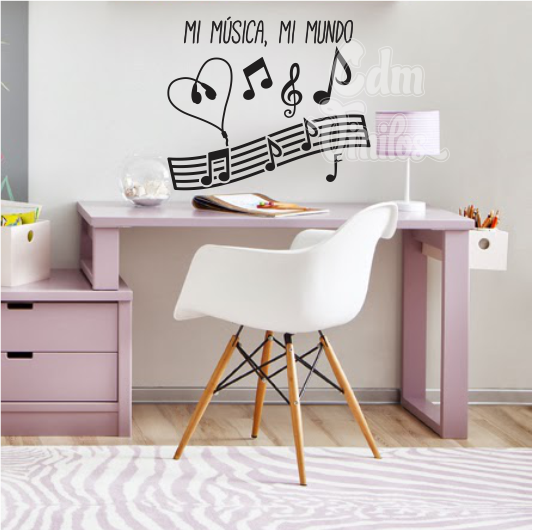 Vinilo decorativo pared infantil juvenil musical for Vinilo decorativo musical pared