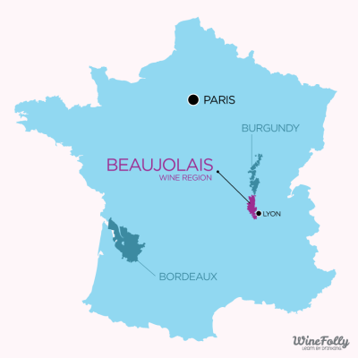 Beaujolais Wine Region Map Overview by Wine Folly
