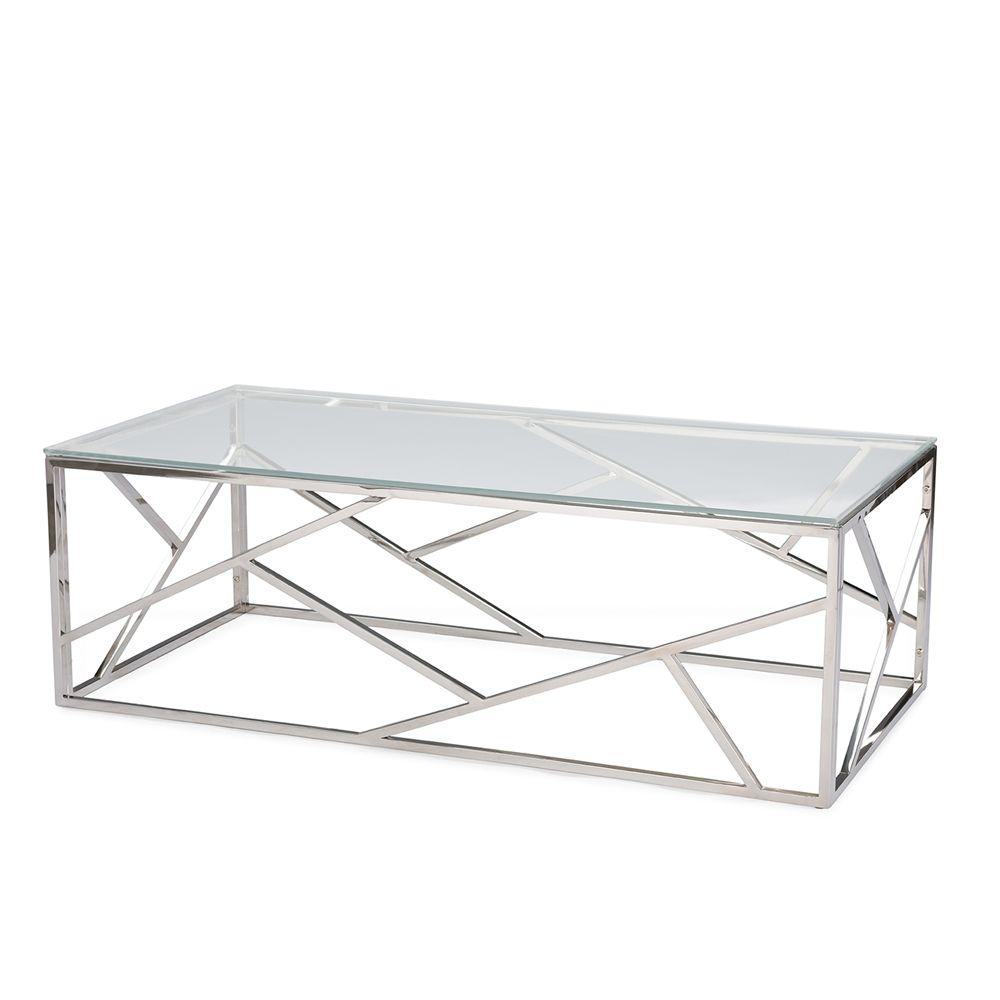 Aero Chrome Glass Coffee Table Modern Furniture Brickell Collection Coffee Table Metal Coffee Table Modern Coffee Tables [ 1000 x 1000 Pixel ]