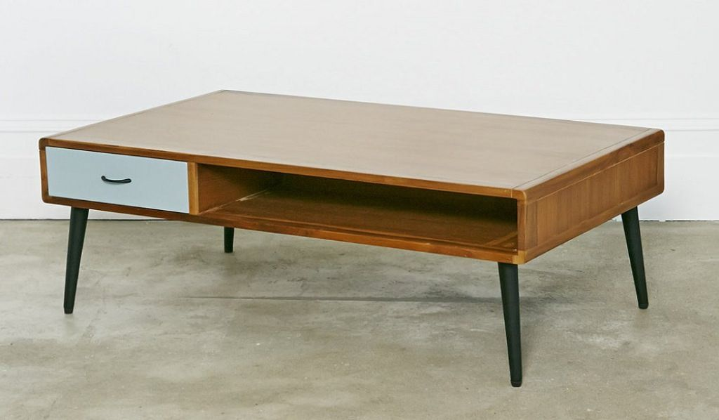 Modern Wood Coffee Table Reclaimed Metal Mid Century Round Natural Diy All  Modern Coffee Table Plans