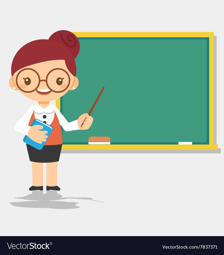 Female Teacher Character In Front Of Blackboard Download A Free Preview Or High Quality Adobe Illustrato Teacher Cartoon Teachers Illustration Student Cartoon