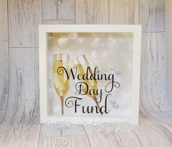 Wedding Gift Money Account: Engagement Present Wedding Money Box Frame By KreativKreationz