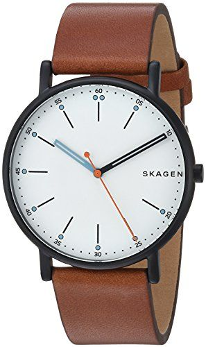 Men Watches - Skagen Mens Signatur Quartz Stainless Steel and Leather  Casual Watch ColorBrown Model SKW6374 0cda180c2d